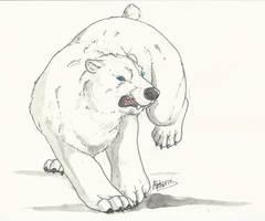 Polar bear - gift by Akhorispaw