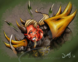 Thornster Bust by lilwassu