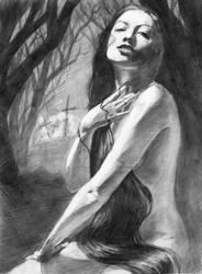 Vampire Sketch by lilwassu