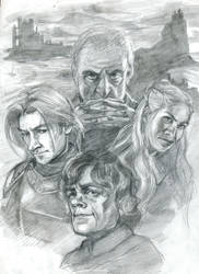 House Lannister - Pencil by lilwassu