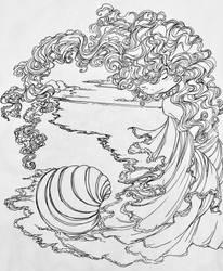 Inktober Day 2 - Emperial Venus by darthmer-mer