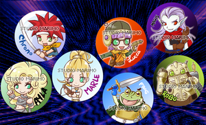 Chrono Trigger buttons by studiomarimo