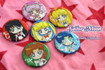 Sailor Moon button set by studiomarimo