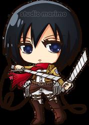 Mikasa - Shingeki no Kyojin by studiomarimo