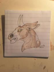 Bull Doodle by Shadows-Society