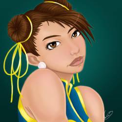Chun Li Portrait by KiraTheArtist