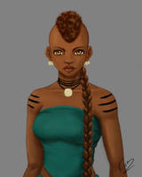 Naja Waist Up Color by KiraTheArtist
