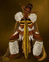 Zulu Elf Warrior by KiraTheArtist