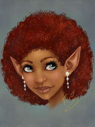 Curly Red-headed Elf by KiraTheArtist