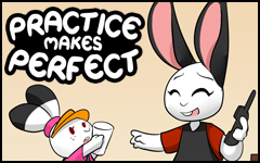 New comic! Practice makes Perfect by freelancemanga