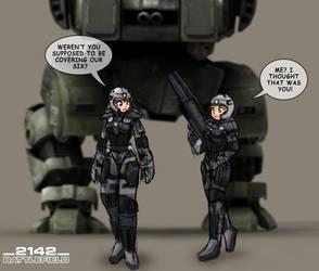 Battlefield 2142 by freelancemanga