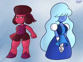 Ruby and Sapphire by SB99stuff