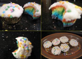 Technicolour Cupcakes by Arosoi-Kumo