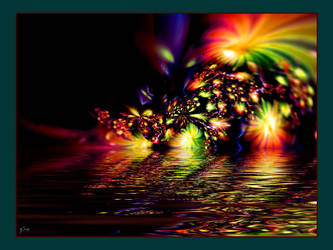 fireworks on water reflection by swinck