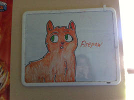 SSS Warrior Cats White Board  - Firepaw by Paleodraw