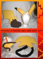 Pikachu and Raichu sets by Gijinkacosplay