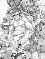 SF3rd strike Tribute -sketch by blueyoshimenace