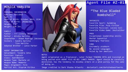 Tenebra Agent File #Z-01: Monica Harlita by ZombieAxeHero