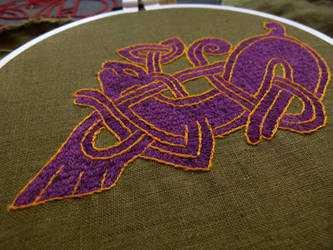 Viking embroidery close-up by Symbelmune
