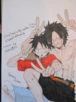 CE: Luffy and Ace ^^ by Vero-desu