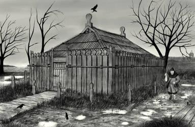 Slavic temple by IlmarinenKowal