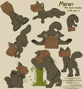 Mason the brick headed wolfpup by Bear-hybrid