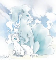 Ice kitsune by Bear-hybrid