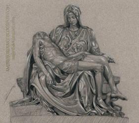 Pieta Study (Michelangelo) by AmBr0