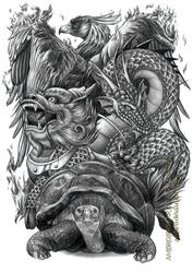 Chinese Auspicious Creatures by AmBr0