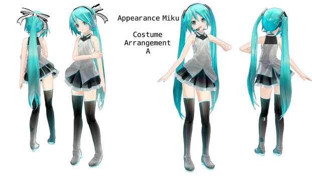 Api Miku Costume Arrangement A (Updated DL again!) by SomeFatWhiteGuy