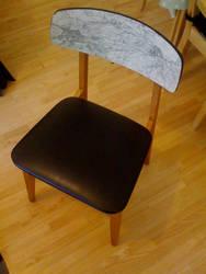 Map hall chair by eyeseverywhere