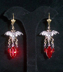 Sanguine Bat Earrings by lilibat