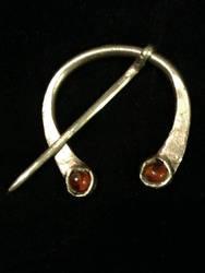 Silver and Amber veil pin by lilibat