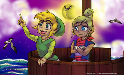 Link and Tetra by MelodicDragon