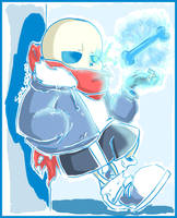 Sans from Undertale: Waiting Back Here by SouL00020