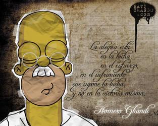 Homero Ghandi by batichango