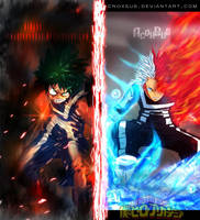 boku no hero academia - Izuku  VS Shouto -Collab by Acnoxsus