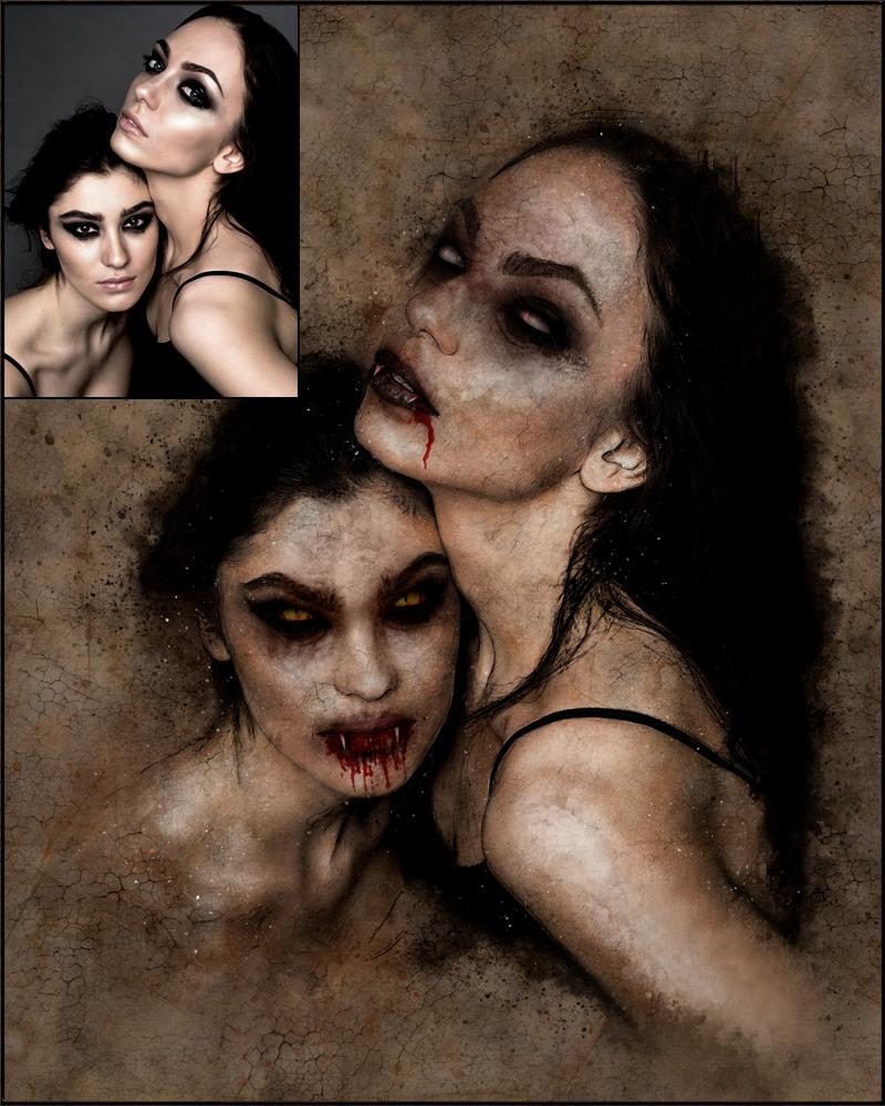 Vampire Custom Digital Portraits by EroticArtist