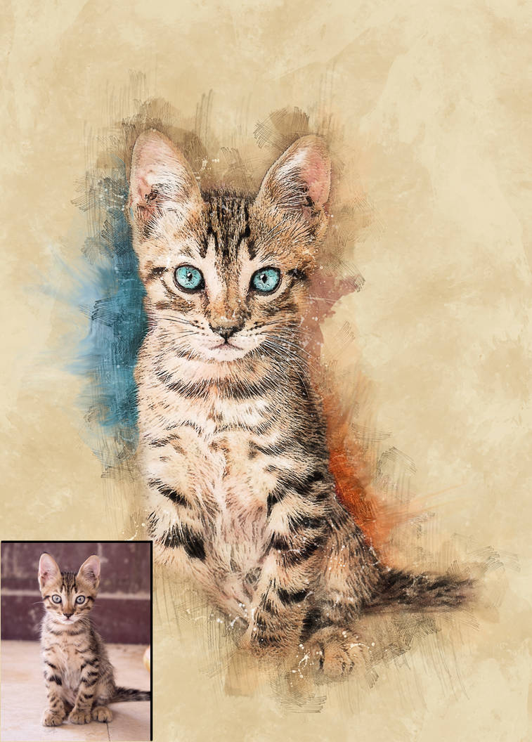 Digital Pet portrait using your own photos! by EroticArtist