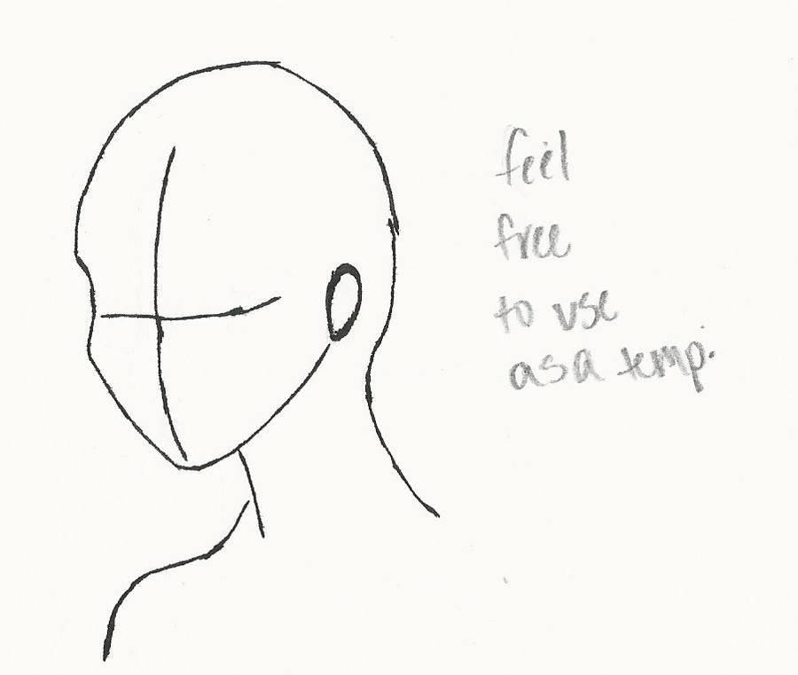Inked Head Template By Childofthefox On Deviantart