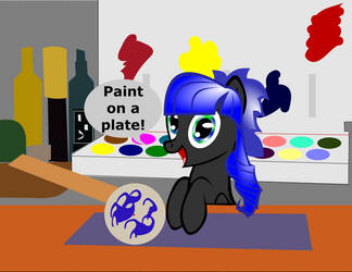 Paint on a Plate by the-babbage