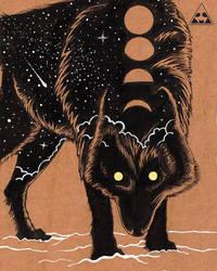 Cosmic Wolf by horizonred