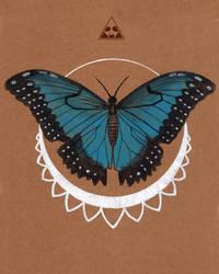 Blue Morpho by horizonred