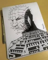 Pinhead sketch by horizonred