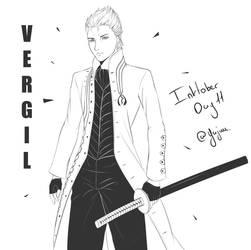 Vergil, Inktober day 11 by Yajuu5