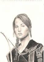 Katniss - the hunger games by ilovetangled