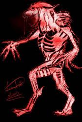 Metal beast sketch by leandrw