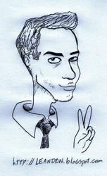 Selft caricature portrait by leandrw
