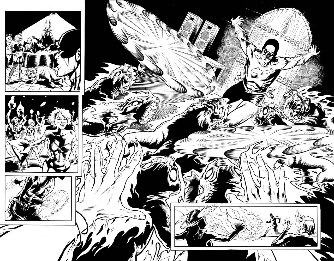 Bola Page 4-5 Inks by craigcermak