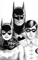 Batman, Batgirl, Robin - Family Portrait by craigcermak